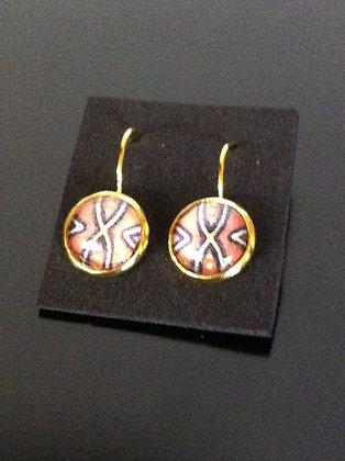 Ohrringe - boucles d'oreille kente