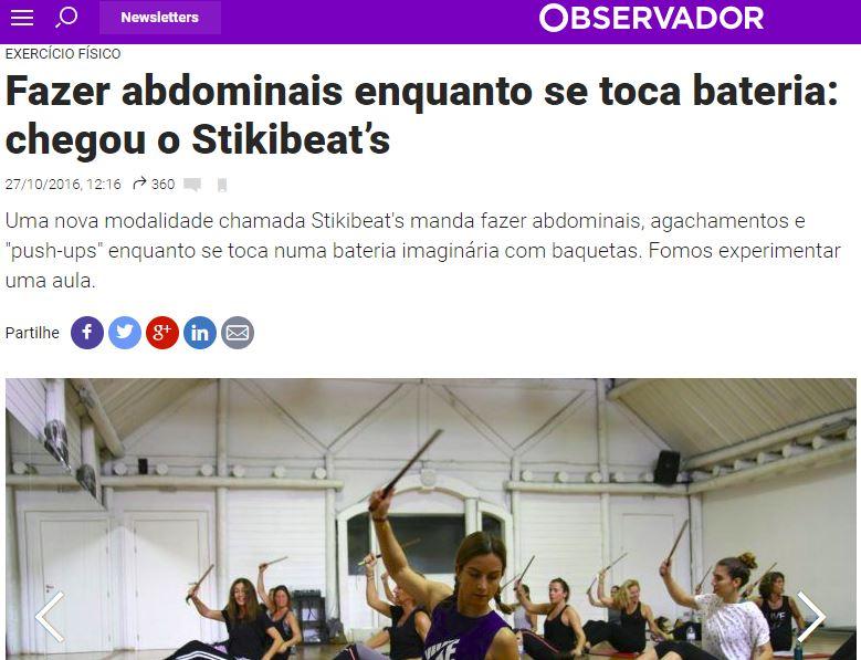 Stikibeats no Observador