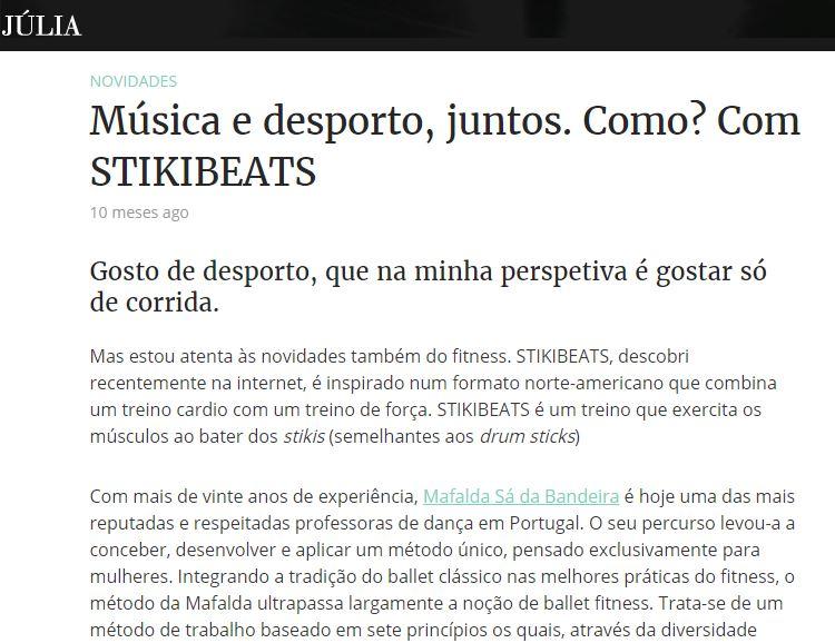 Stikibeats no blog da Julia
