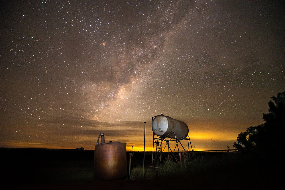 Fuel Tanks and Milky Way - Yeoval, NSW