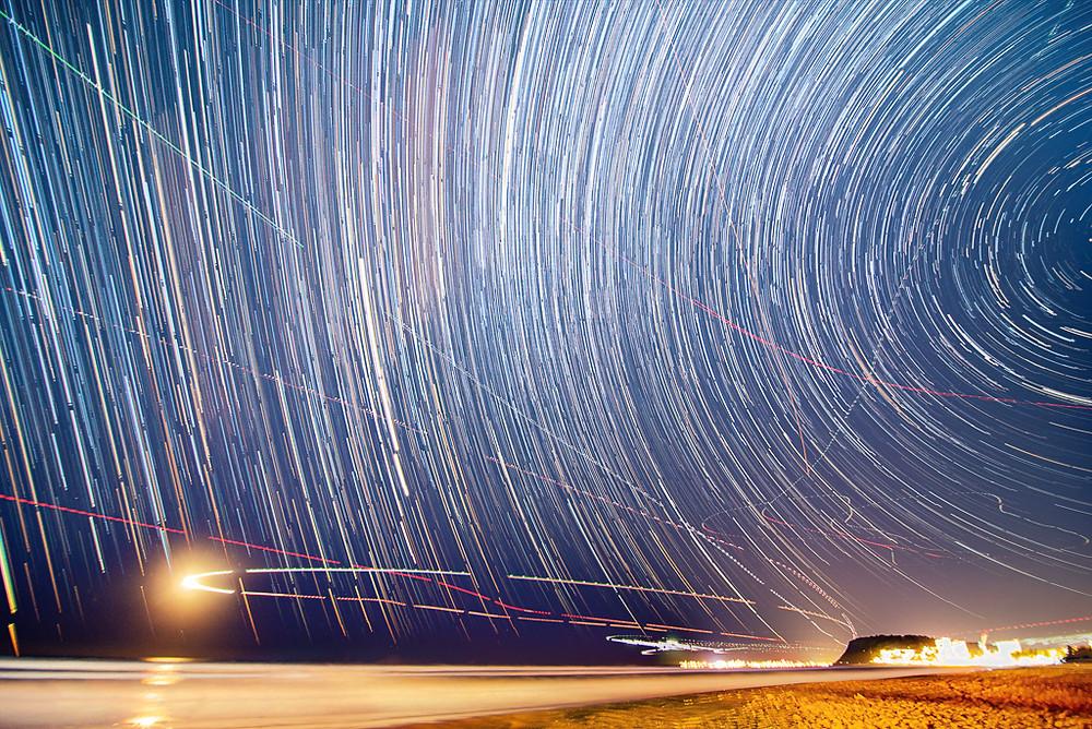 Burleigh Heads Star Trails