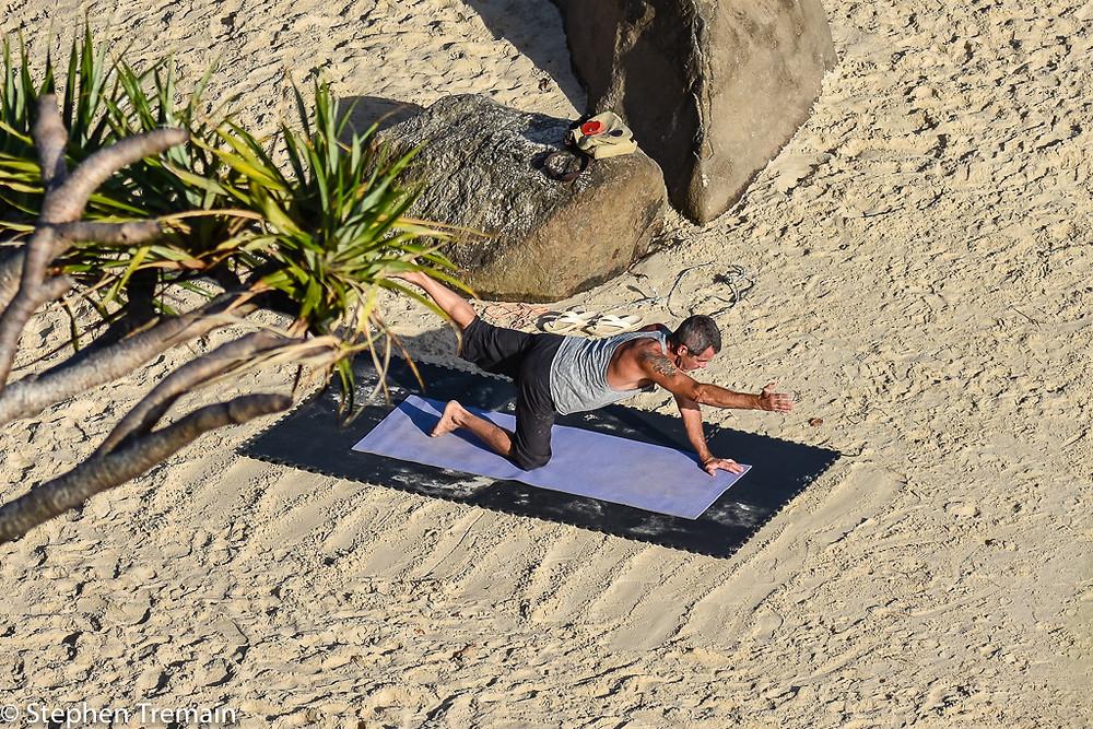 Yoga at Snapper Rocks
