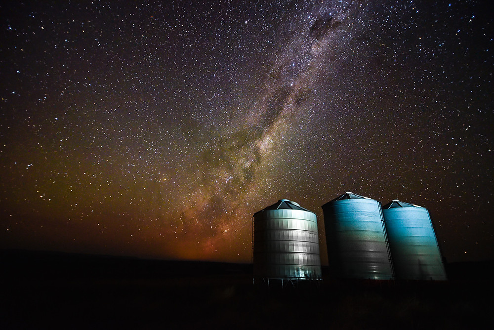 Grain Silos and Milky Way - Yeoval, NSW