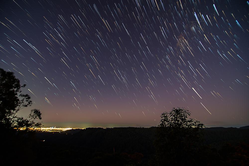 Wunburra Lookout (Springbrook) Star Trails
