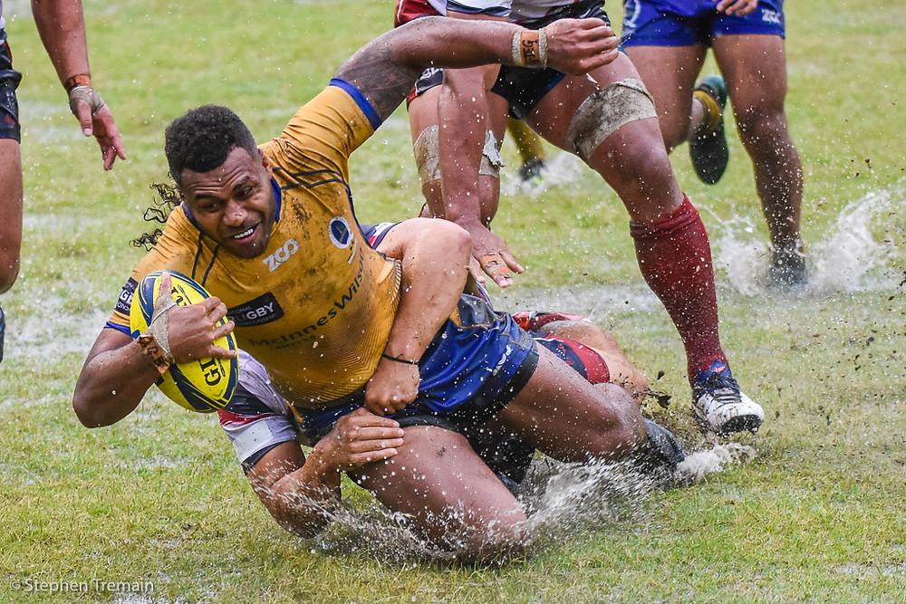 Samu Kerevi scores for Brisbane City