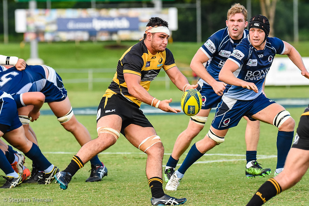 Tevin Ferris playing for Perth Spirit in 2017 NRC
