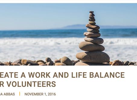 Work Life Balance for Volunteers