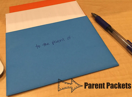 How to Make Parent Packets for YM