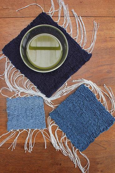 3 sets de table soie - Série carrés