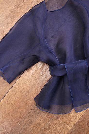 Blouse Tshirt soie - Indigo profond