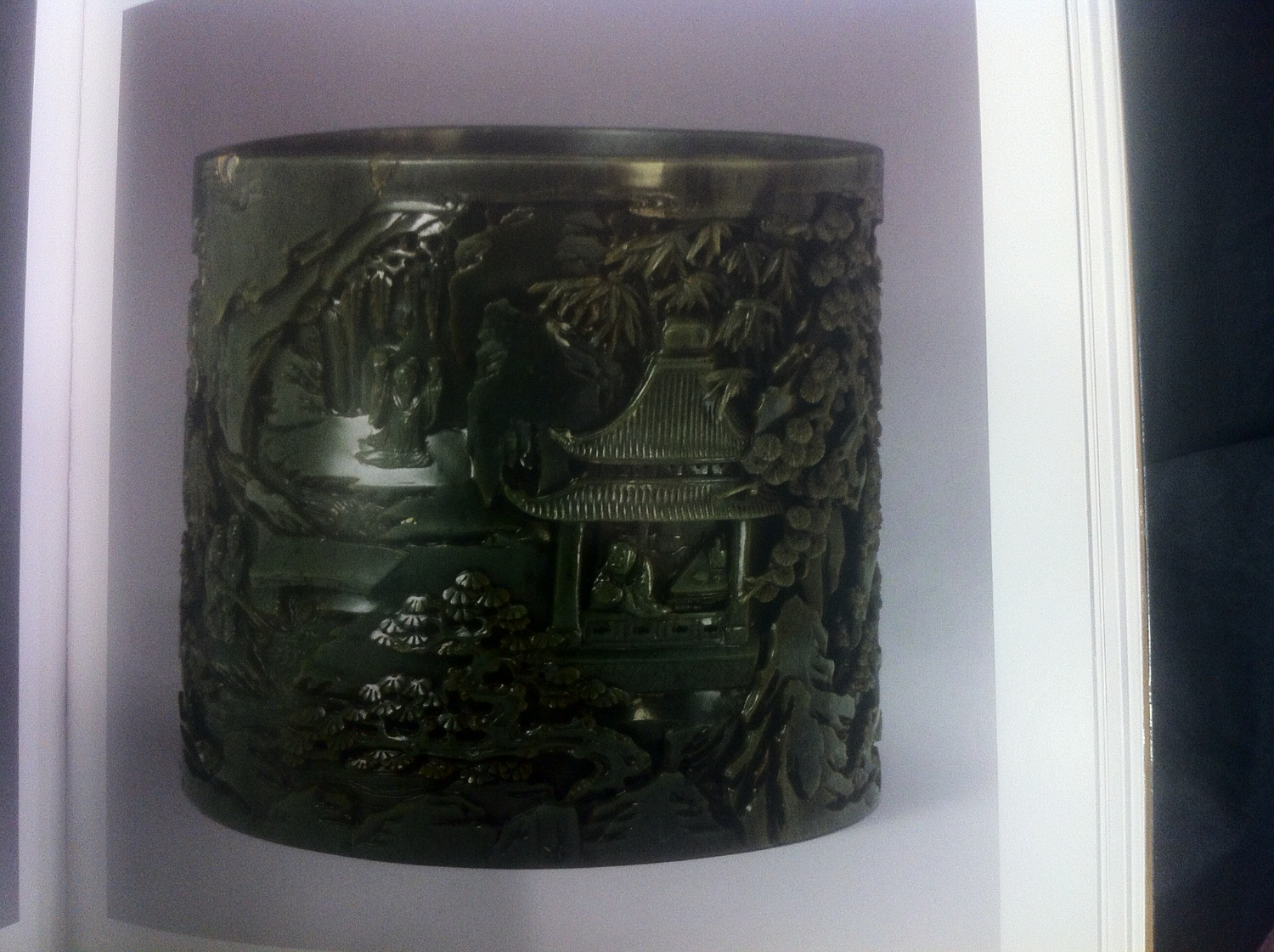 Bitong Qianlong Jade brush pot