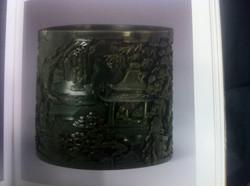 Bitong Qianlong Jade brush pot