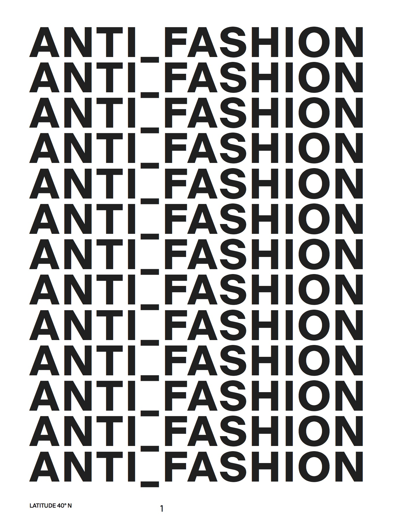Anti-Fashion 2017