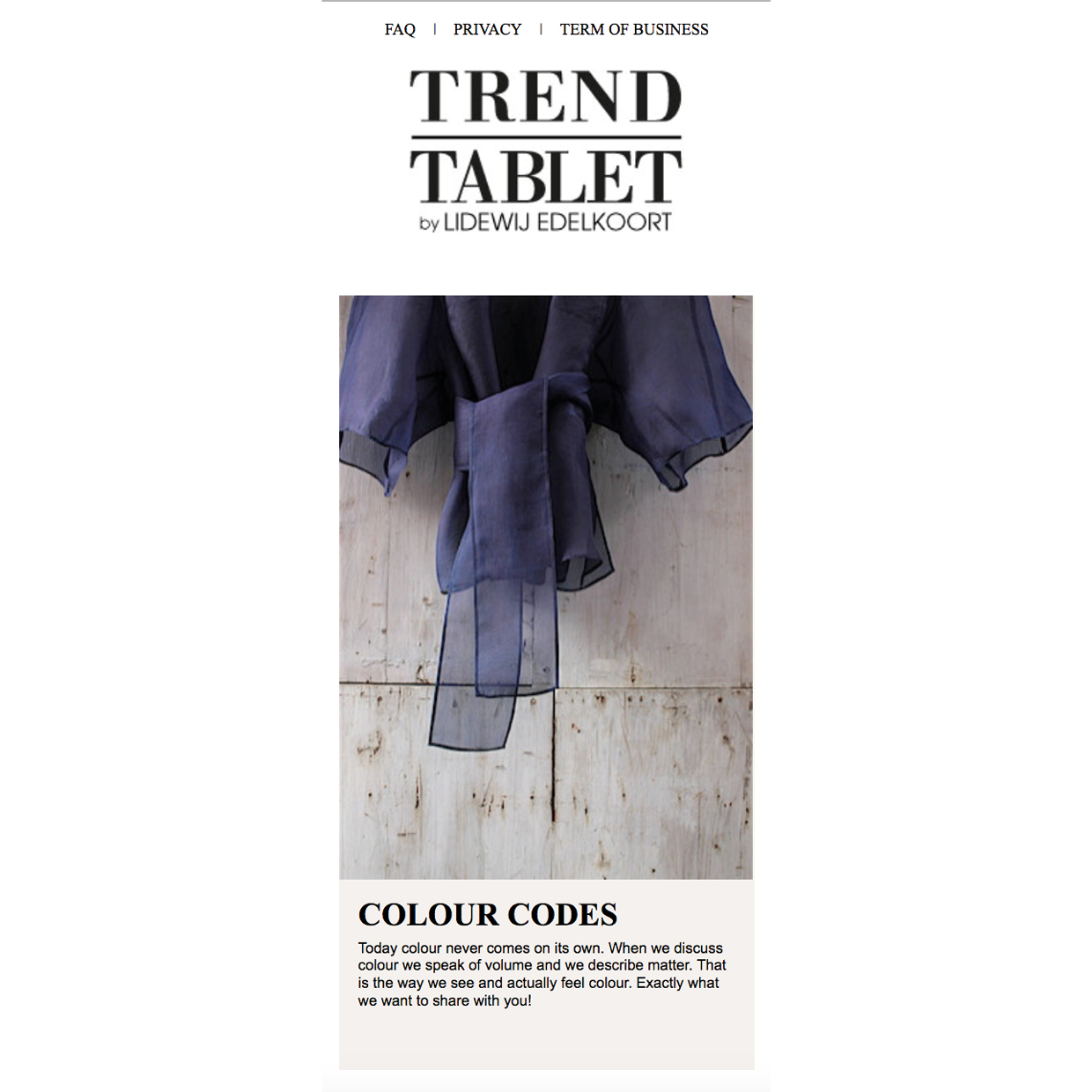 Trend Tablet _ Colour Codes