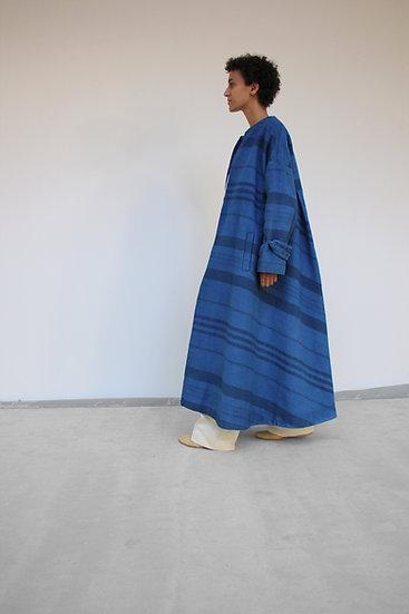 Manteau MA - Toile de coton rayée - Sur Mesure