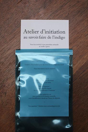 Carte Cadeau 1 pers - Atelier d'Initiation à l'Indigo