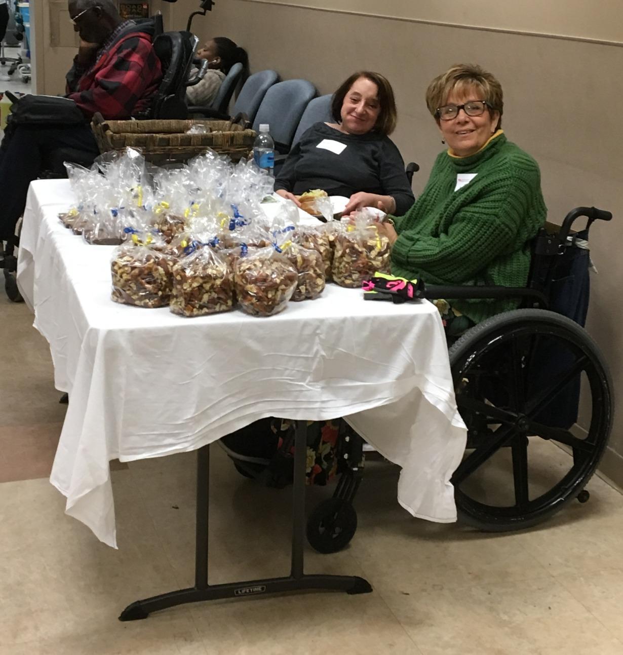 Robyn & Kara selling goodie bags