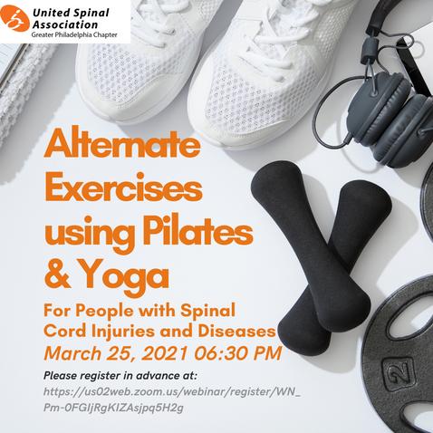 Alternate Exercises using Pilates & Yoga