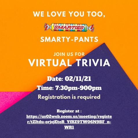 Calling all Smarty-pants 🍬 Virtual Trivia Night is back!