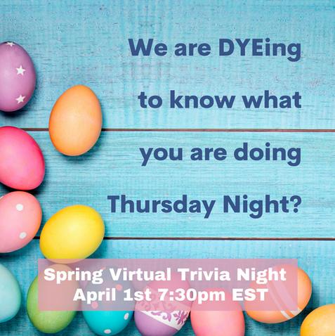 Spring Virtual Trivia Night!