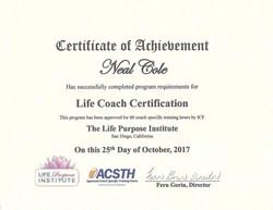 Neal Cole Certificate