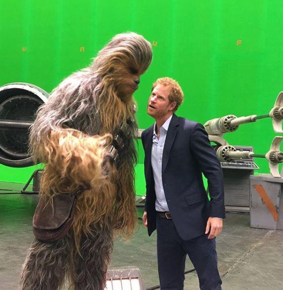 princ Harry and Chewbacca