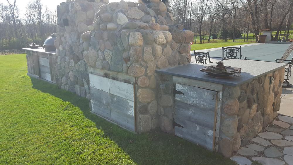Backside of Outdoor Kitchen
