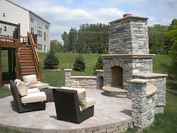 MN Outdoor Fireplace