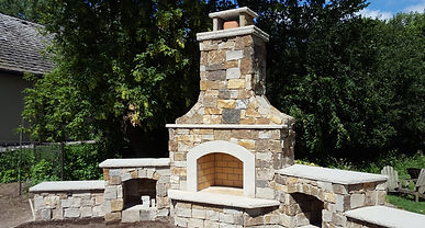 Minneapolis Outdoor Fireplace