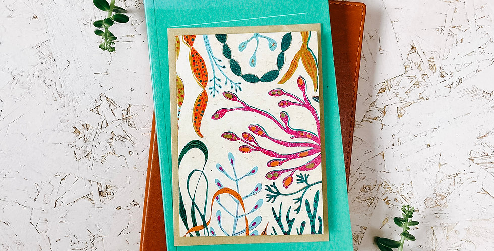 Super Seaweed A6 Greetings Card