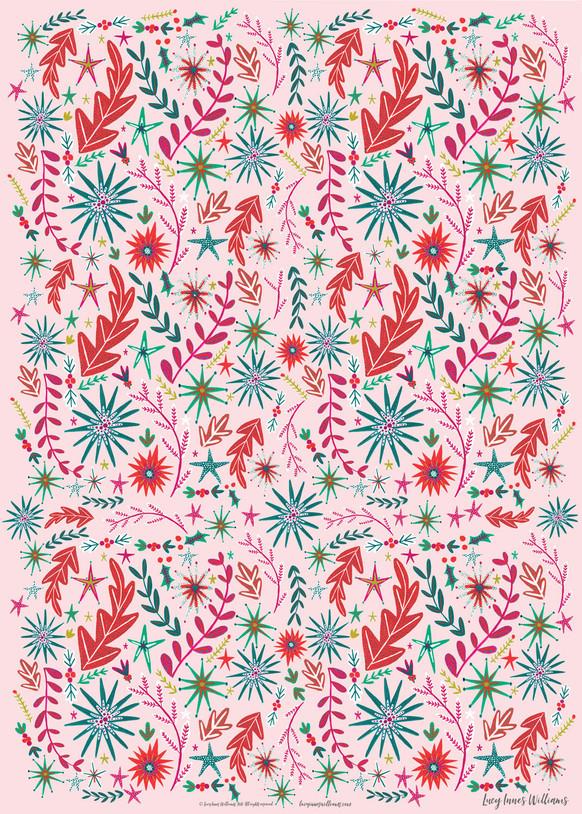 Millennial Pink Christmas Paper