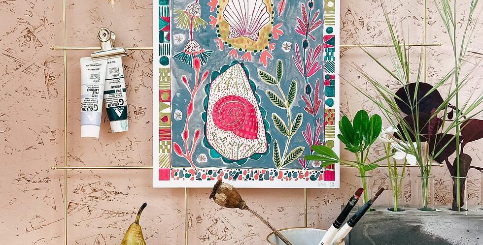 Cornish Shell A4 Print