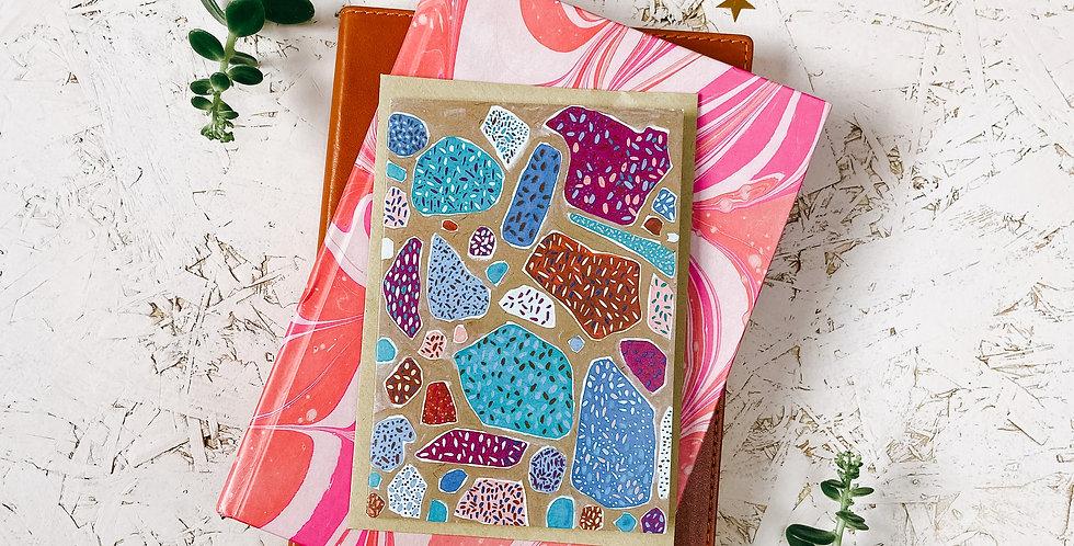 Seaside Terrazzo 4 A6 Greetings Card