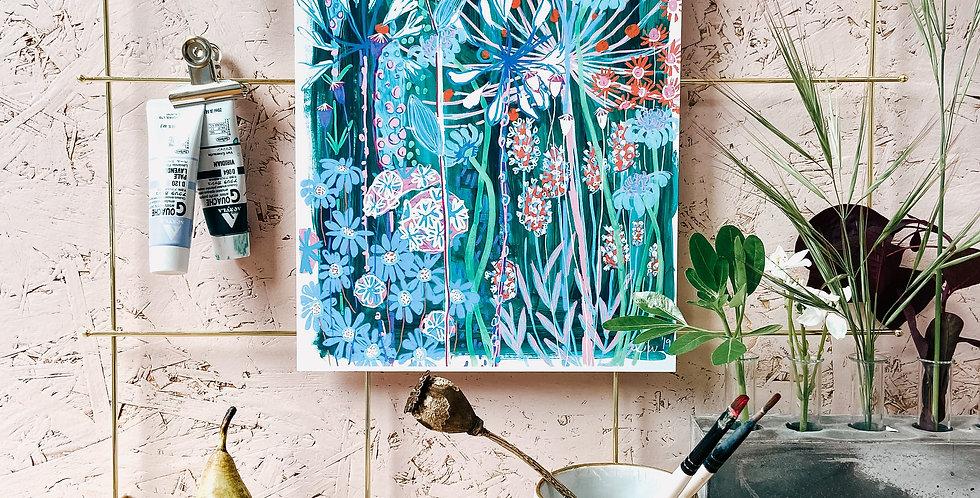 Viridian Garden House A4 Print