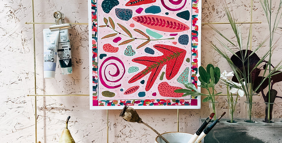 Pink Panther Terrazzo A4 Print
