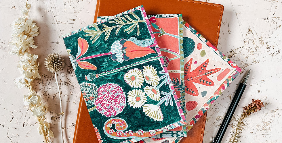 Dream Gardens A6 Notebook Set