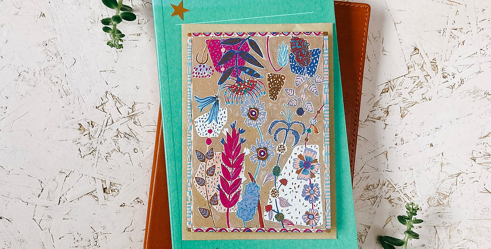 Seaside Terrazzo 1 A6 Greetings Card