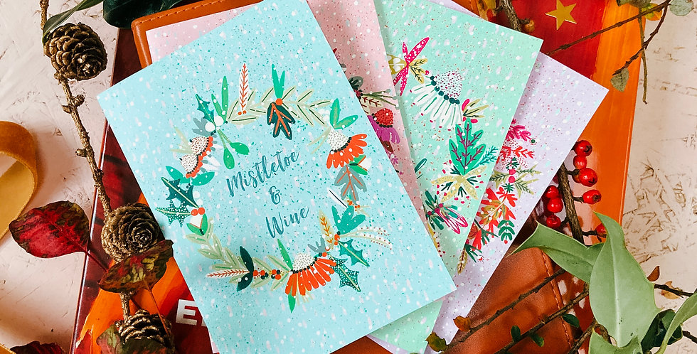 Wreath Card Set (4 Cards)