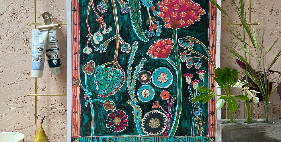 Pendennis Wildflowers A3 Print