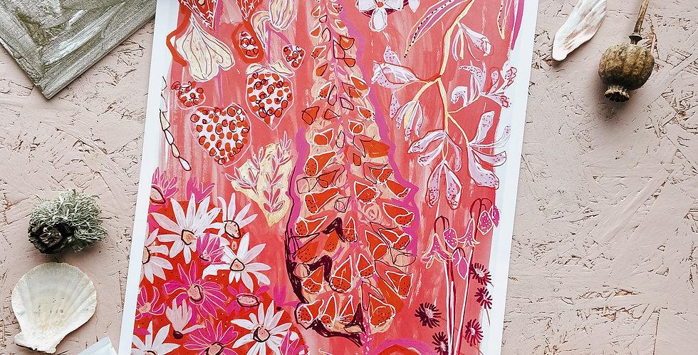 Feeling Pink & Brown Print III