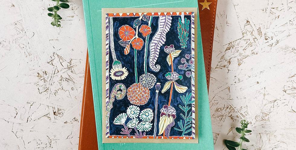 Trebah Gardens A6 Greetings Card