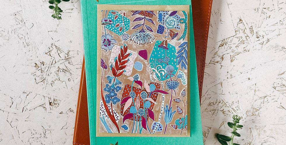 Seaside Terrazzo 2 A6 Greetings Card