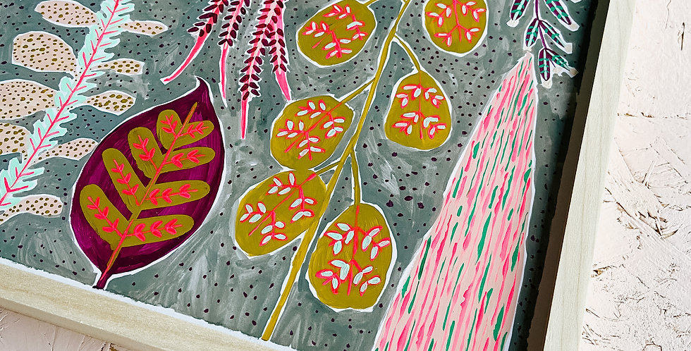 Neon Folk Painting