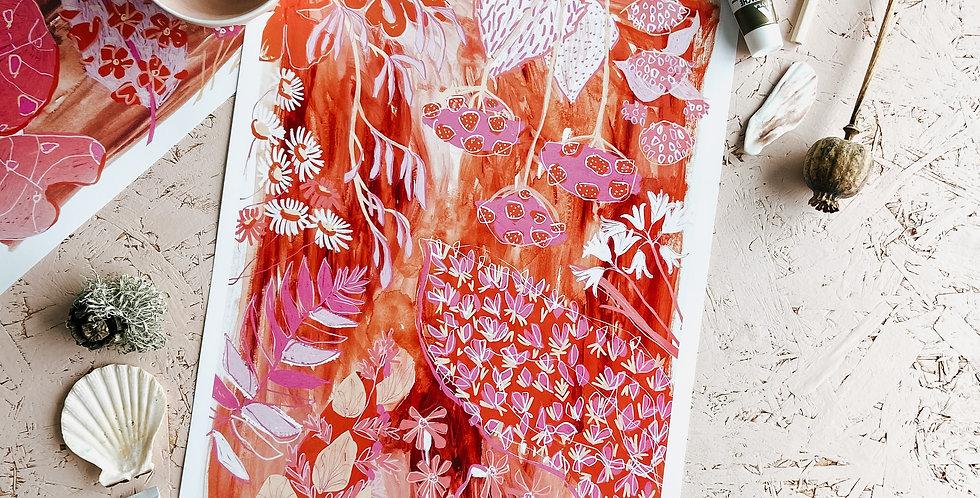Feeling Pink & Brown Print II