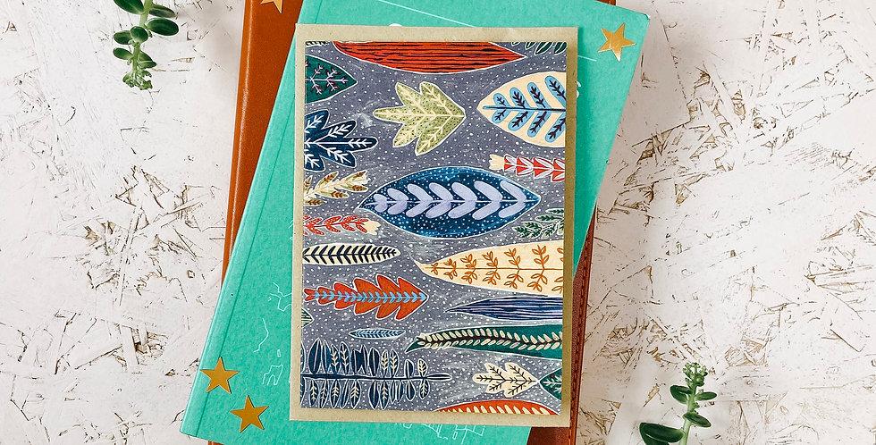 Folk 4 A6 Greetings Card