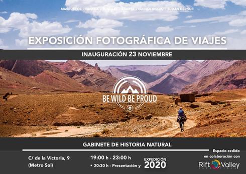 Cartel Exposición Viaje Sostenible - Aprendizaje - Mirada Humana