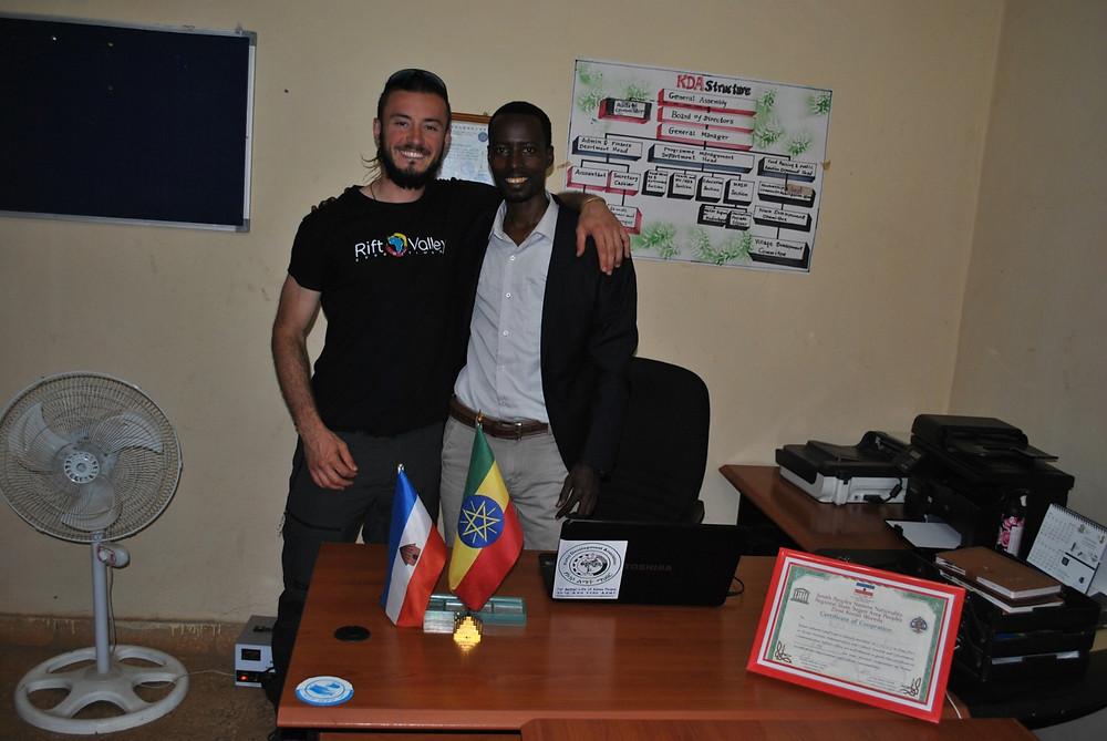 David y Shibru, el coordinador actual del KDA