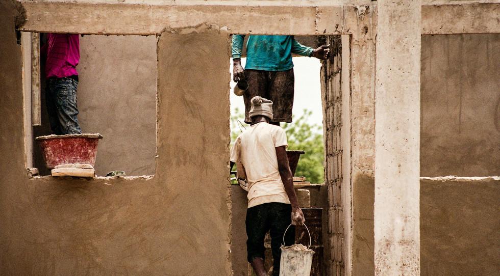 Tres trabajadores (Gambia) - Ángel Álvar