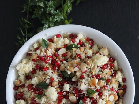 Salat in Weihnachtsfarben