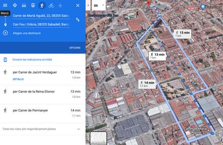 A 13 minuts a peu de Can Feu - Gràcia Estació FFGC